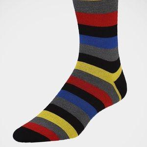 Bugatchi 'Wide stripes on Black' Socks